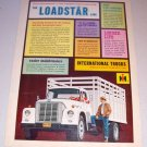 1962 International Loadster Stake Bed Truck Color Print Ad