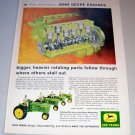 1962 New Generation John Deere Tractor Engines Color Print Ad