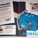1962 Homelite C-5 Convertible Drive Chain Saw 2 Page Print Ad
