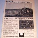 1962 John Deere New Generation Farm Tractors Print Ad