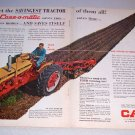 1962 Case 830 Farm Tractor 2 Page Color Print Ad