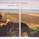 1963 John Deere 5010 Diesel Farm Tractor 2 Page Color Print Ad
