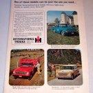 1962 IH International Pickup Trucks Color Print Ad
