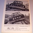 1963 Jeep Gladiator Pickup Truck Art Print Ad