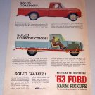 1963 Color Print Ad Ford 100 Custom Cab Pickup Truck