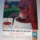 1963 Gravy Train Dog Food Farm Tractor Color Print Ad