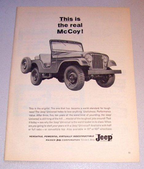 1963 Jeep Universal Vehicle Print Ad