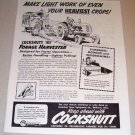 1953 Print Ad Cockshutt Farm Tractor 411 Forage Harvester