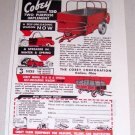 1953 Color Print Ad Cobey Model 150 Spreader Farm Implement