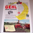 1953 Color Print Ad Gehl Forage Harvester Farm Implement
