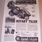 1953 Print Ad ME Milwaukee Rotary Tiller
