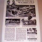 1953 Print Ad Champion Spark Plugs Clarence Chatfield Waukesha Wisconsin