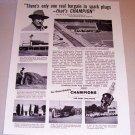 1953 Print Ad Champion Spark Plugs R.K. Schmidt Tulare California