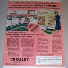 1953 Color Print Ad Crosley Shelvador Refrigerator Celebrity Margaret Lindsay
