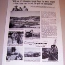 1953 Print Ad Champion Spark Plugs Jame JC Eli Agajanian Saugus California