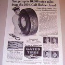 1953 Print Ad Gates Silent Safety Tires