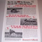 1953 Print Ad MM Minneapolis Moline Uni-Harvester Farm Implement