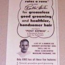 1953 Print Ad Jeris Hair Tonic Celebrity Charlton Heston