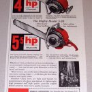 1953 Color Print Ad Homelite Model 26 5-30 Chain Saw