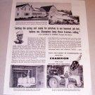 1954 Print Ad Champion Spark Plugs Murray Kenney Presque Isle Maine