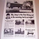 1954 Print Ad 4 Wheel Drive Universal Jeep Harold Border Weston Ohio
