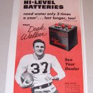 1954 Print Ad Prest-o-lite Battery Celebrity NFL Detroit Lions Doak Walker
