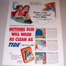 1954 Tide Detergent Color Art Print Ad