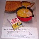 1954 Jello Pudding Pie Filling Lemon Pies Color Print Ad