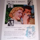 1954 White Rain Lotion Shampoo Photography Color Print Ad