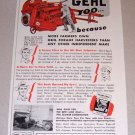 1954 Gehl Forage Harvester Farm Implement Print Ad