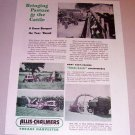 1954 Print Ad Allis Chalmers Forage Harvester Farm Implement