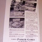 1954 Parker Brothers Board Card Games Print Ad