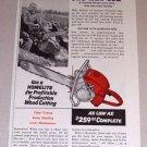 1954 Print Ad Homelite Chain Saw Milo Bassett Goshen Vermont