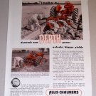 1954 Allis Chalmers Farm Tractors Plow Subsoiler Print Ad