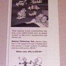 1954 Master Tinkertoy Toys Set Print Ad