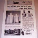 1954 Print Ad Champion Spark Plugs H. F. Wayne Klindworth Hatton Washington
