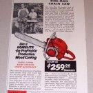 1954 Print Ad Homelite Chain Saw Everett Berendt Elysian Minnesota
