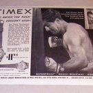 1954 Print Ad Timex Marlin Sportster Watches Boxing Celebrity Rocky Marciano