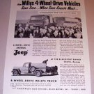 1954 Print Ad 4 Wheel Drive Universal Jeep S. B. Swann Waterman Illinois