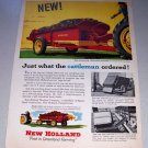 1956 New Holland Model 330 Spreader Farm Implement Print Art Ad
