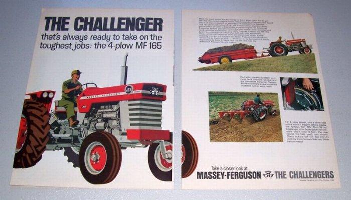 1968 Massey Ferguson 165 Diesel Farm Tractor 2 Page Print Ad