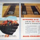 1959 Allis Chalmers D-17 Farm Tractor 2 Page Color Print Ad