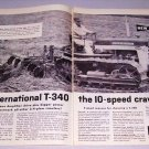 1959 International Harvester T-340 Crawler Tractor 2 Page Print Ad