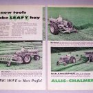 1959 Allis Chalmers 2 Page Tractors Equipment Print Ad