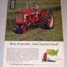 1962 International Harvester Farmall B-404 Farm Tractor Color Print Ad
