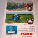1964 Ford 6000 Farm Tractor Color Print Ad