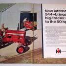 1968 International Harvester Farmall 544 Tractor 2 Page Color Print Ad