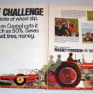 1968 Massey Ferguson 180 Farm Tractor Color Art Print Ad