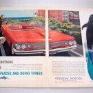 1960 Pontiac Bonnieville Convertible Coupe Color 2 Page Print Car Ad