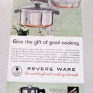 1961 Revere Ware Designers Group Cook Ware Color Print Ad